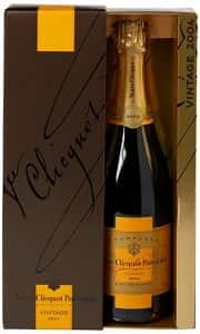 Bottle of Veuve Clicquot Champagne (Vintage Brut 2008)