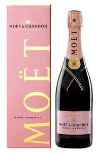 Bottle of Moët and Chandon Champagne (Imperial Rosé)