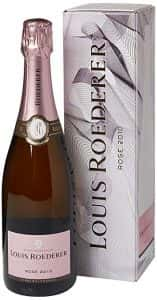 Bottle of Louis Roederer Champagne (Brut Vintage Rosé 2010)